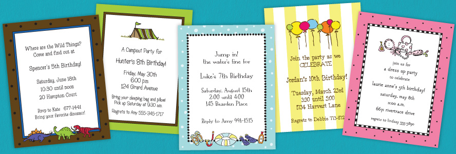 Birthday Party Invitations – Childrens Birthday Party Invitations